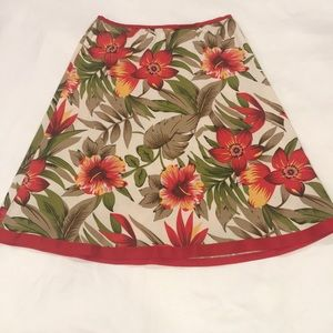 Dresses & Skirts - Red, floral print skirt
